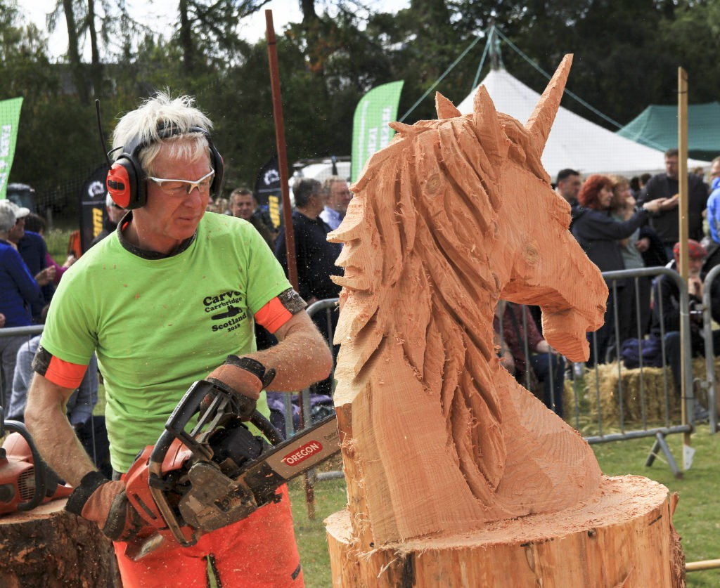Carve carrbridge scottish open chainsaw carving competition